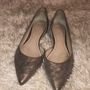 Pointed Flats in Pewter
